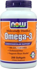 NOW Foods Omega-3 -- 200 Softgels