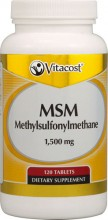 MSM -- 1500 mg - 120 Tablets
