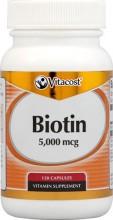 Biotina - 5000 mcg - 120 Cápsulas
