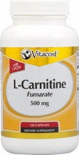 L-Carnitine Fumarate with CoQ10 -- 500 mg - 120 Capsules