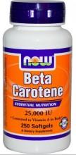 Beta-Caroteno, 25.000 IU, 250 Cápsulas