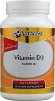 Vitacost Vitamina D3 10000IU 365 capsulas