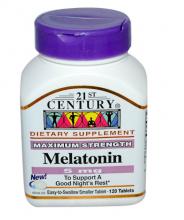 21st Century, Melatonina, 5 mg, 120 Comprimidos
