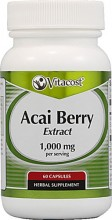 Acai Berry Extract -- 1000 mg per serving- 120 Capsules