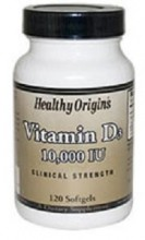 Healthy Origins Vitamin D3 10000 IU 120 Softgels