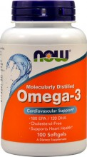 NOW Omega-3 -- 100 Softgels