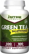 Cha Verde Jarrow Formulas, Green Tea, Decaffeinated, 500 mg, 100 Veggie Caps