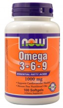 NOW Foods Omega 3-6-9 -- 1000 mg - 100 Softgels