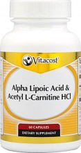 Alpha Lipoic Acid & Acetyl L-Carnitine HCl -- 1,600 mg per serving - 60 Capsules