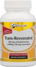 Trans-Resveratrol 500 mg  Máxima Potência