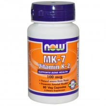 Now Foods, MK-7, Vitamin K-2, 100 mcg, 60 Veggie Caps